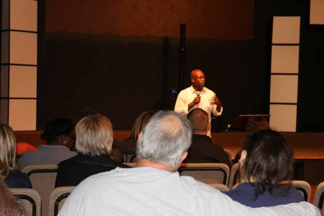 Me speaking at GFE Informational meeting